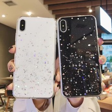 Fashion Glitter Bling Sequins Case For iphone X 8 7 Plus 6 6s Epoxy Star Transparent XR XS MAX Soft TPU Cover