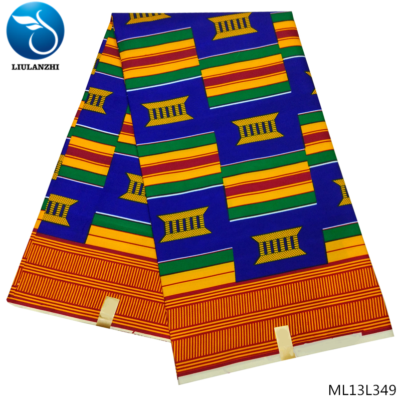 LIULANZHI African Ankara wax Fabric 6 Yards Veritable high quality African prints wax Fabric Batik For Women ML13L348 356 in Fabric from Home Garden