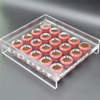 Coffee Capsule Nespresso Compatible Manual Filling Tool Transparent Acrylic Filler Empty Filling Machine 20Holes