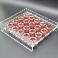 커피 캡슐 네스프레소 호환 수동 충전 도구 투명 아크릴 필러 빈 충전 기계 20 구멍|커피웨어 세트|홈 & 가든 -