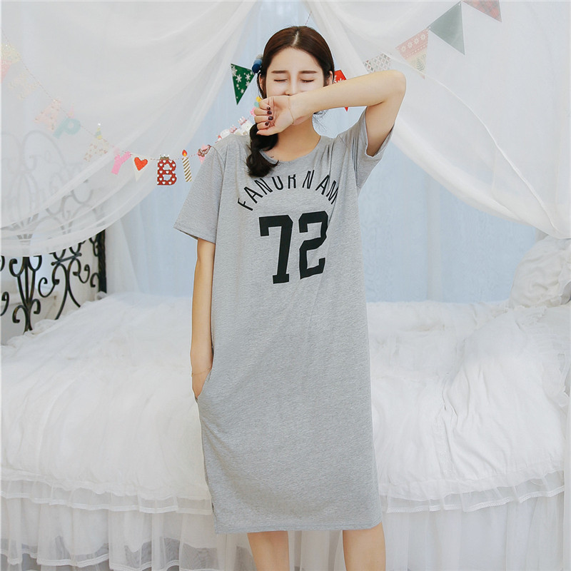 Fashion Women Summer Night Skirt 72 Style Leisure Home Clothes Short Sleeve Longuette NIghtgown For Women Serve Spring Sleepwear