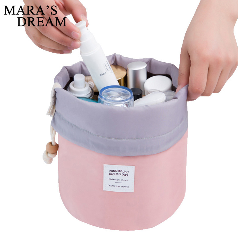 Cosmetic-Bag Barrel Dressing-Box-Storage Travel Large-Capacity Waterproof Nylon Mara's-Dream