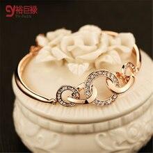 Женские браслеты с золотым металлом оптовая продажа Модный женский