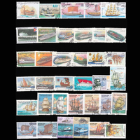 50 PCS Lot Sailboat Boat Used Postage Stamps With Post Mark Good Condition Collection Stamp No
