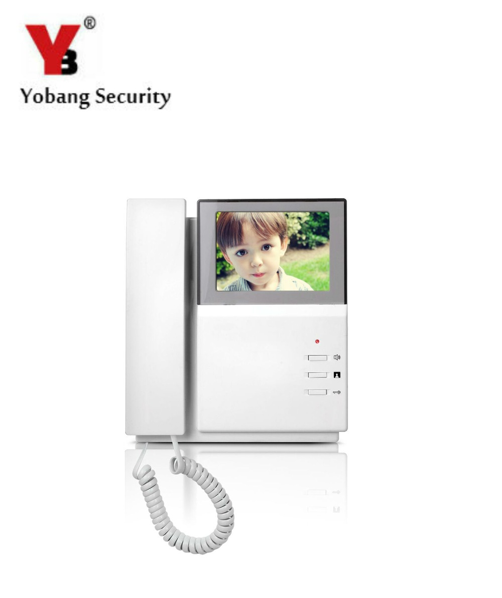 YobangSecurity 4.3 Inch Color TFT LCD Screen Monitor Wired Video Door Entry System Video Door Phone Intercoms yobangsecurity black 7 inch color tft lcd screen monitor wired video doorbell camera system for house office apartment