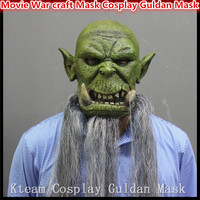 2016 New Hot Famous Movie Orcs Guldan Masks Cosplay Movie Adult Latex Scary Face Mask for Halloween Party Cosplay Free shipping