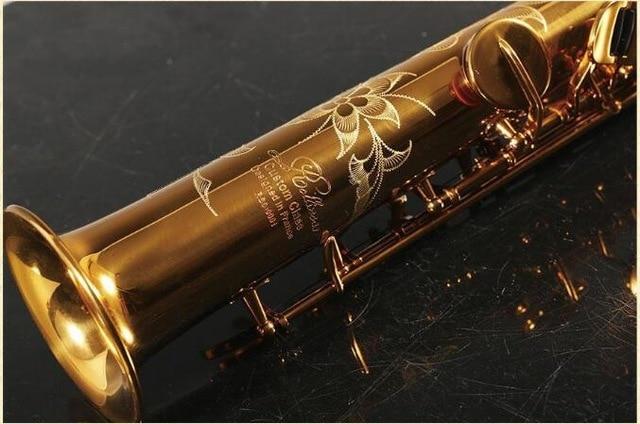 Professional Grade France Rollinsax RSS-9901 Split Straight Saxophone Soprano Sax Pitch B Flat Gold Brass Music Mouthpiece