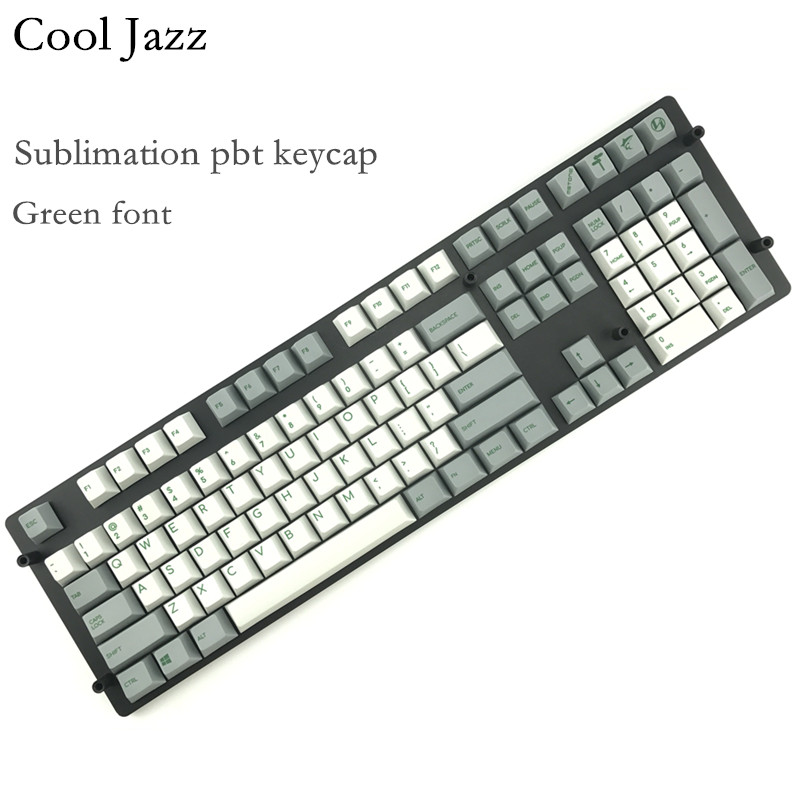 Cool Jazz pbt Cherry mx Mechanical Keyboard keycaps 151 key dye subbed cherry profile 1 75shift iso keys For Corsair STRAFE K65 in Keyboards from Computer Office