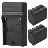 2pcs High Capacity 7800mAh Bateria NP F960 NP F970 Camera Battery Charger For Sony F960 F970