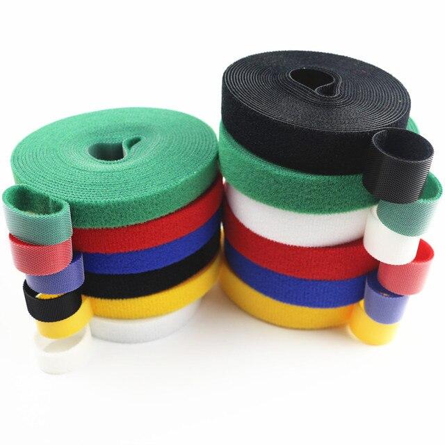 Attache adhésive réutilisable 3 mètres chaude   Bande de fixation dos à larrière, crochets et boucles solides, attaches attaches de câbles, attache de rideau, ruban magique