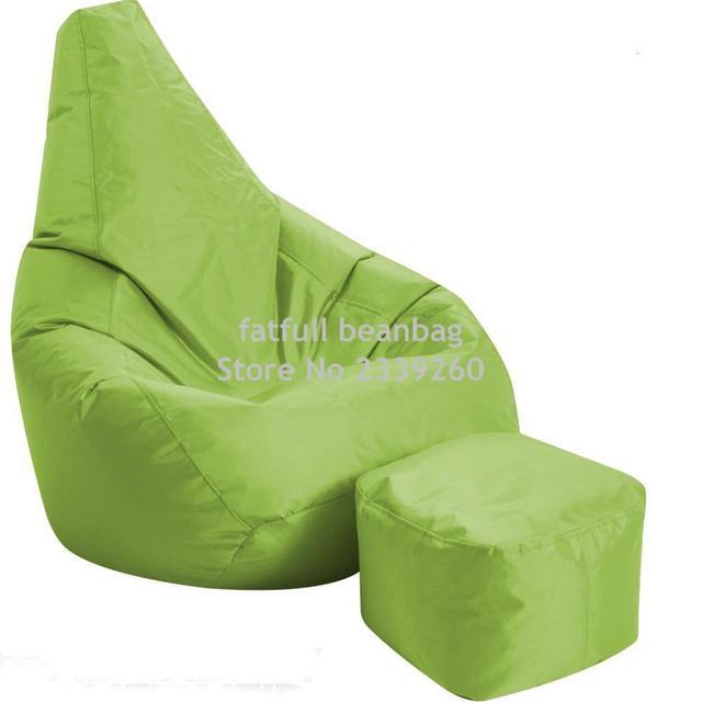 Cobrem apenas No Filler-verde sala de estar mobiliário sofá do saco de feijão, cadeira de jardim ao ar livre sofá beanbag set casa móveis