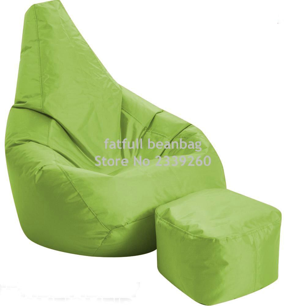 Cover Only No Filler Green Living Room Furniture Bean Bag Sofa Chair Outdoor Garden Beanbag Set Home In Sofas From On