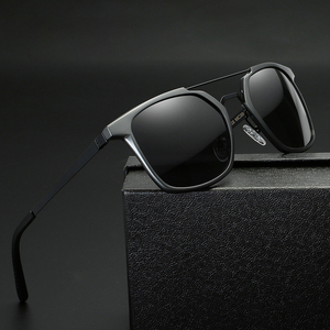Image 2 - 2019 New Men Polarized Rimless Aluminum Sunglasses Driving Fishing Polarised Eyewear Rectangle UV400 Sun Glasses Anti Glare 8639