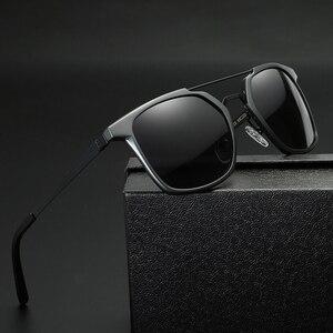 Image 2 - 2019 ผู้ชายใหม่ Polarized Rimless แว่นตากันแดดอลูมิเนียมตกปลา Polarized แว่นตาสี่เหลี่ยมผืนผ้า UV400 Sun แว่นตา Anti   Glare 8639