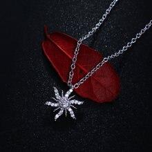Ожерелье серебряного цвета со снежинками для женщин аксессуары
