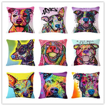 Throwpillow throw linen series printed decor pillow pattern cushion dog animal