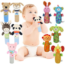 Baby Toys 0-12 Months Cute Animal Hanging Rattles Built-in BB Infant Baby Toys Gifts Stuffed Handbells Hand Bell Plush Doll недорого