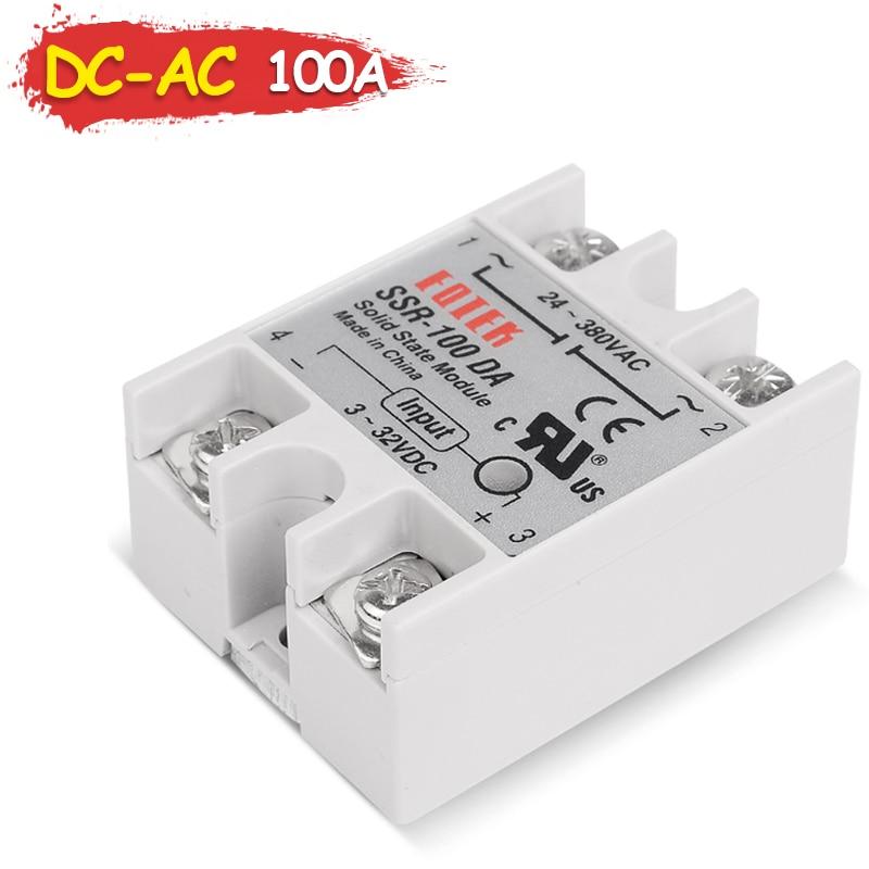 SSR-100DA Sinotimer Brand Industrial Solid State Relay SSR 100DA 3-32V 12V DC Input and 220V 24-380V AC Output 100A Load