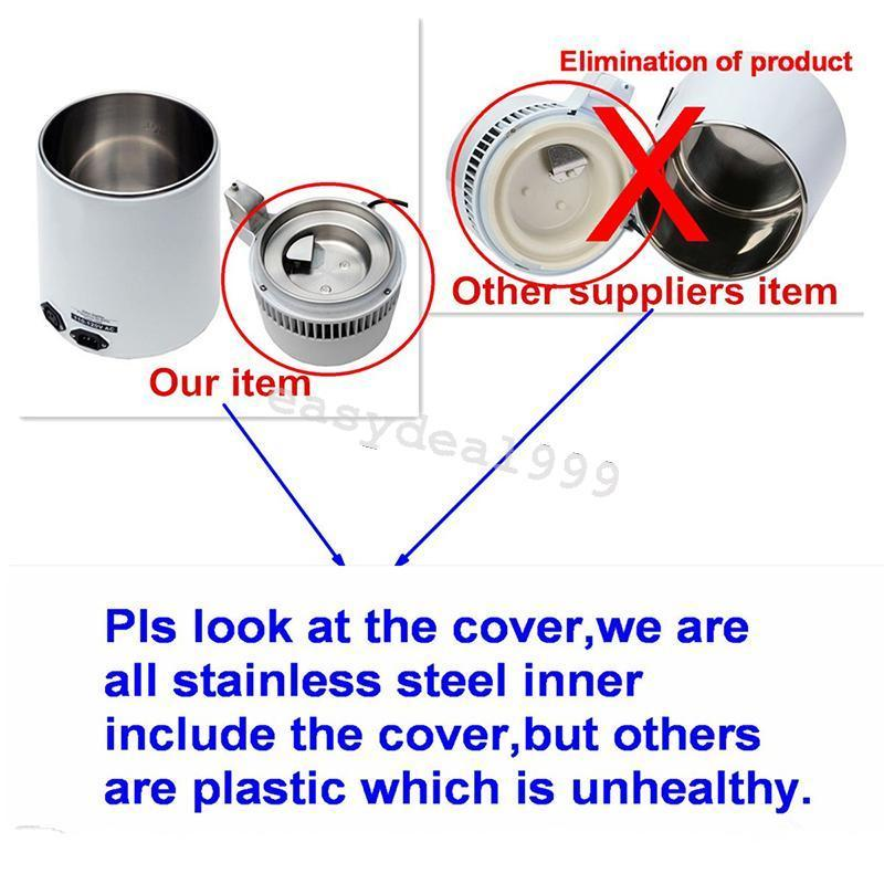Stainless 304 4L Stainless Steel Pure Water Distiller Filter Water - Perkakas rumah - Foto 6