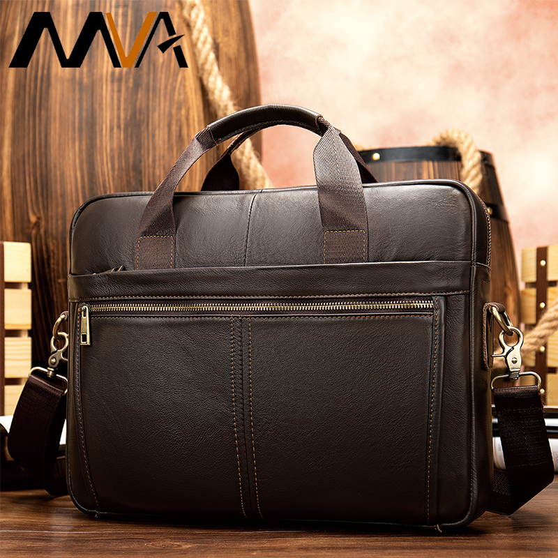 Men's Briefcase Genuine Leather Briefcase Men Man Bags Leather Laptop Bags For Men Business Computer Bag Mens Briefcases Handbag