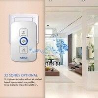 KERUI-EUUSUK-Plug-32-Songs-Optional-Waterproof-Touch-Button-Smart-Home-Welcome-Doorbell-Alarm-Intelligent-Wireless-Doorbell-2