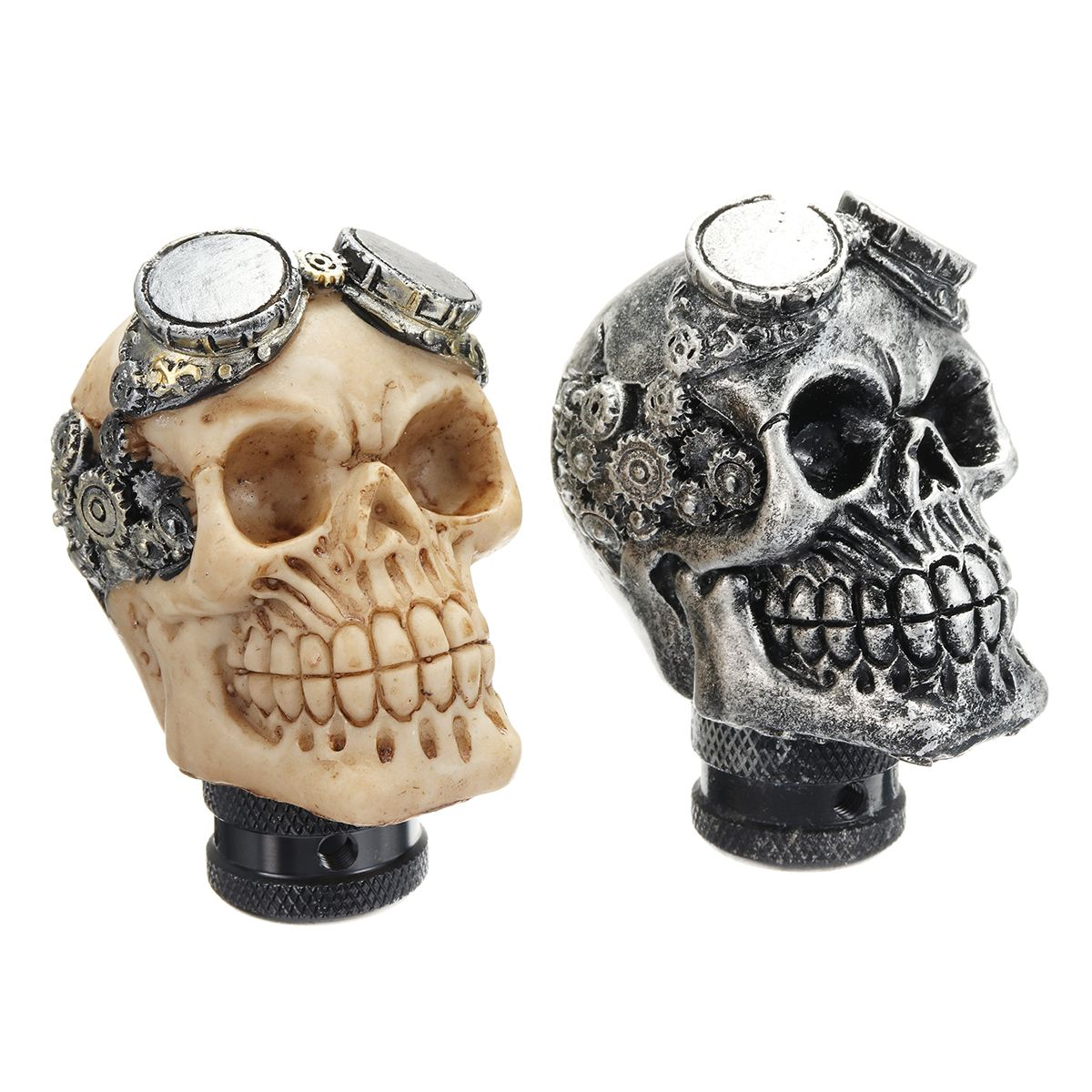 Universal Car Gear Shift Knobs Skull Head Gear Manual Transmission Gear Shift Knob Shifter Lever вытяжка каминная kronasteel krona irida 600 white sensor белый