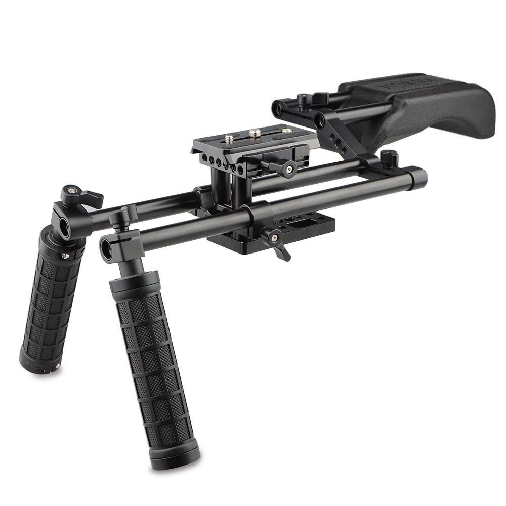CAMVATE Pro DSLR Shoulder Mount Support Rig Kit Handgrip for canon/nikon and other ylg0102h dslr shoulder mount support rig double hand handgrip holder set for all video cameras and dv camcorders
