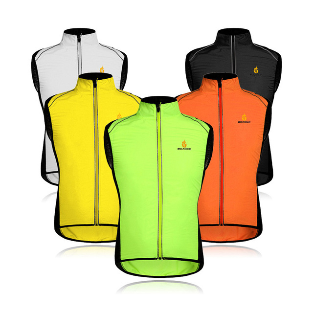 Windproof Motorcycle Cycling Jerseys Vest Sleeveless Cycle Clothing  Windcoat Breathable MTB Bike Reflective Jacket Vest ac32c1f41