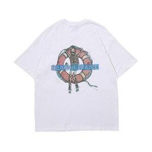 OVDY19SS SKELETON TEE men women t-shirt kanye west summer print harajuku cotton streetwear hip hop streetwear brand t shirt tops