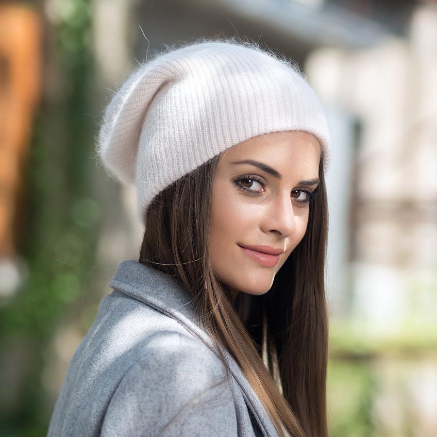 2017 New Autumn Winter Beanies Hats For Women Knitting Warm Wool Skullies Caps Ladise Hat Pompom Gorros (3)