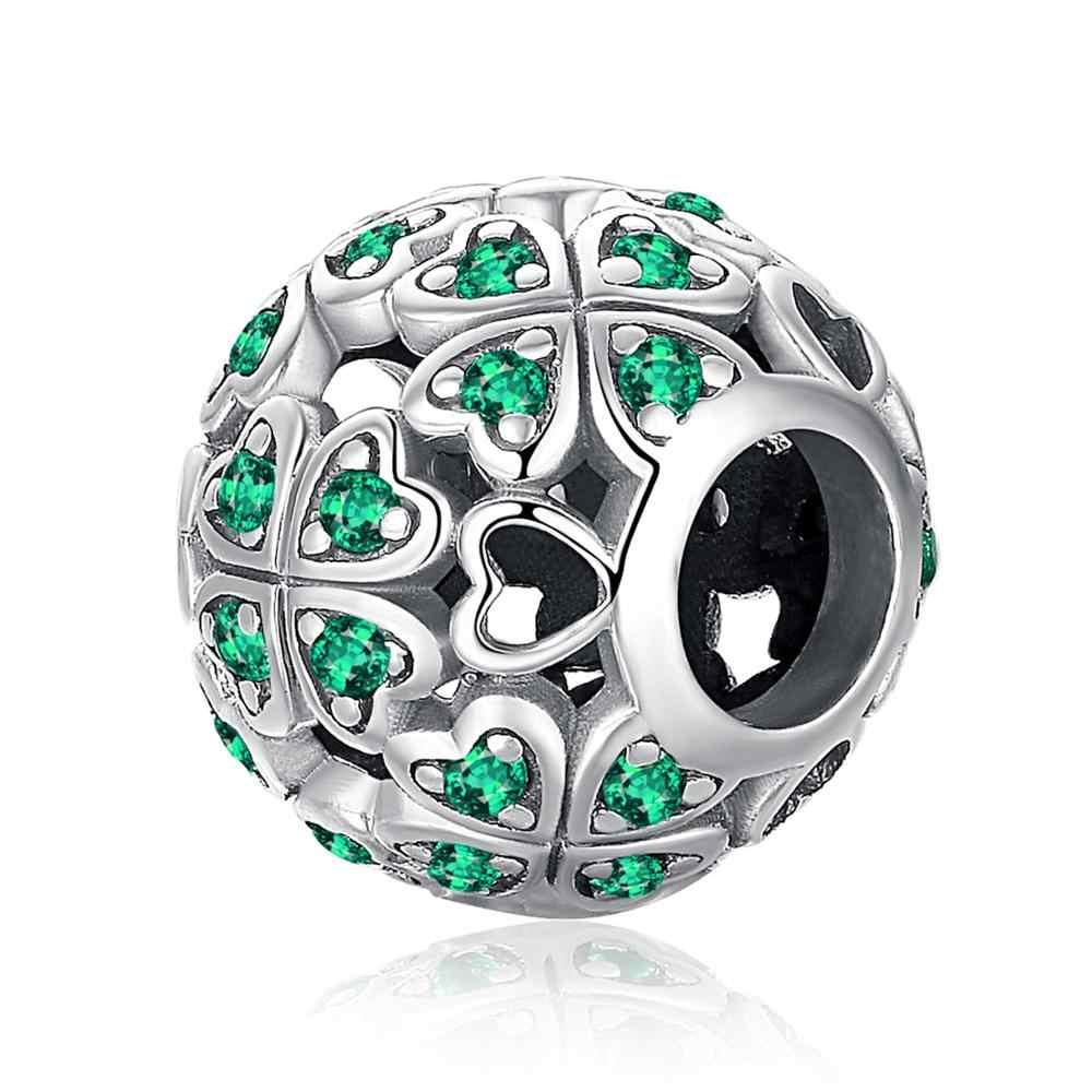JewelryPalace dört yapraklı 925 ayar gümüş boncuk Charms gümüş 925 orijinal için bilezik gümüş 925 orijinal takı yapımı için