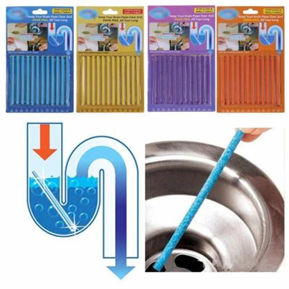 12 ピース/セット Sani Cleaing はあなた排水パイプクリア臭ホームクリーニング不可欠クリーナー浴室ツール