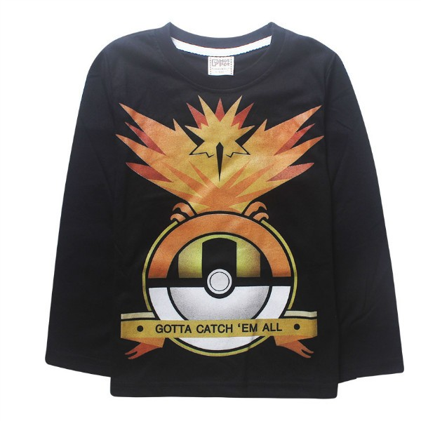 2016 Pokemon Boys full long sleeve t shirt hoodie tees autumn winter spring tshirt blouse sweatshirt Size for 3 4 5 6 7 8 Years (4)