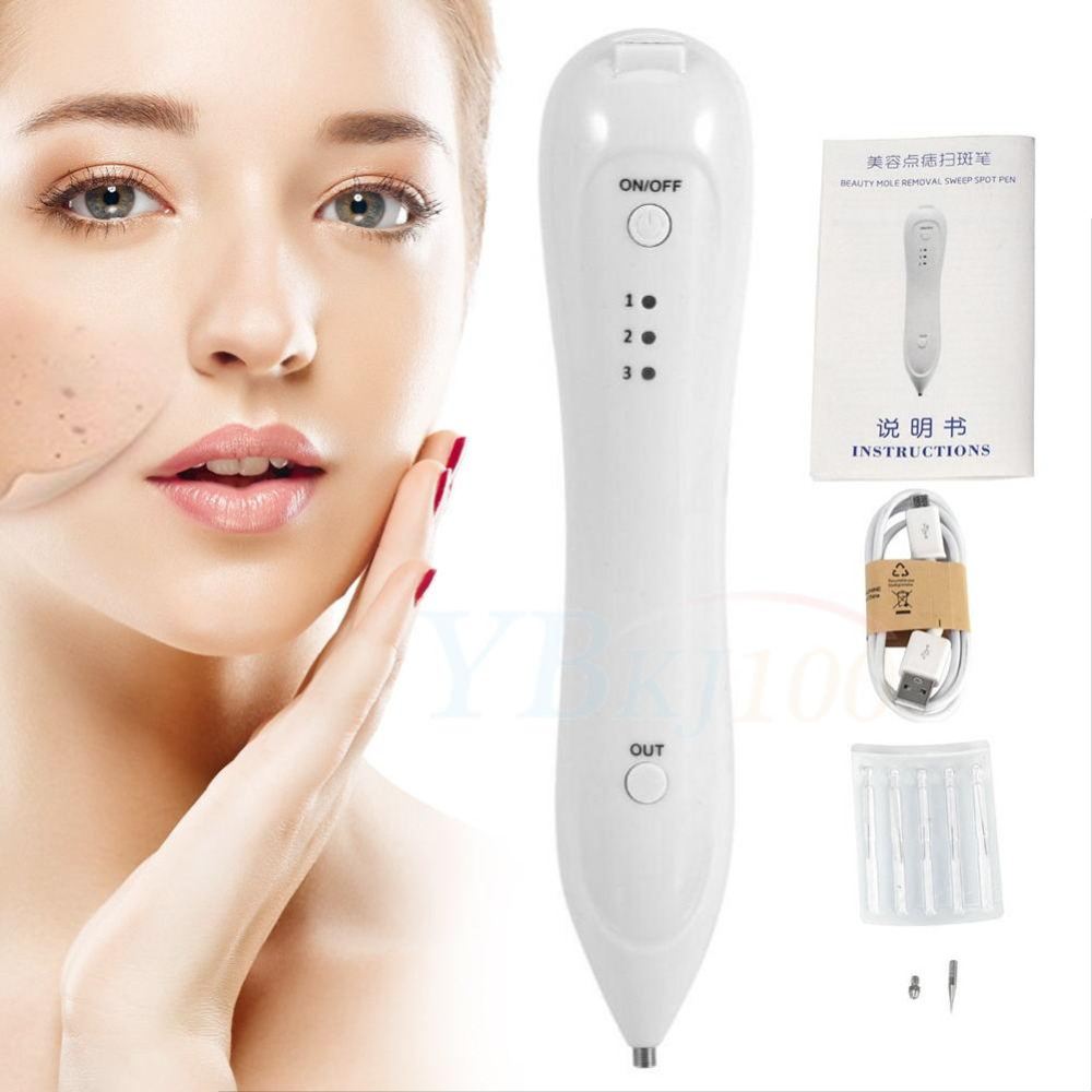Beauty Instrument USB Mole Freckle Removal 3 Levels Dark Spot Tattoo Remover Laser Pen For Facial Beauty Device Face Cleaner
