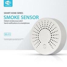 цены на WiFi Smoke Detector/Sensor Smoke Alarm Support Android and IOS mobile phone smoke alarm for office home fire safety  в интернет-магазинах