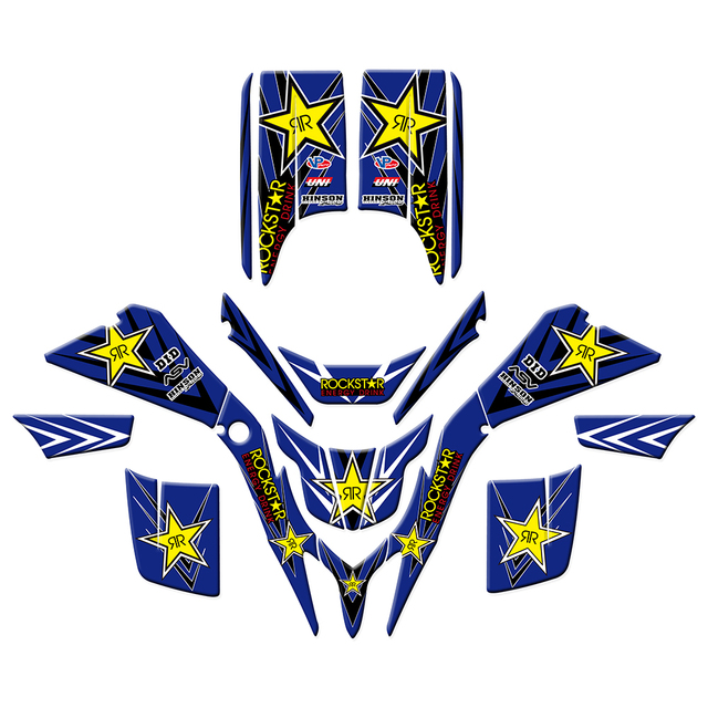 new style rockstar decals stickers graphics for yamaha blaster 200