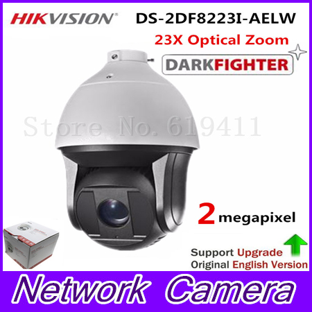 HiK English Version 2MP Ultra-low Light Smart PTZ Camera DS-2DF8223I-AELW Oudoor 23X Optical Zoom IR 200m Dome Darkfighter Cam hikvision ds 2df8223i ael english version 2mp ultra low light smart ptz camera ultra low illumination dark fighter