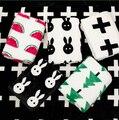 2015 ГОРЯЧЕЙ ПРОДАЖИ детское одеяло новорожденный мультфильм арбуз крест кролик мягкая фланель одеяло пеленание постельные принадлежности для детей