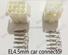 10 комплектов 12 способ EL-12P серии Многополюсные Инструменты для наращивания волос, электрический разъем провода Наборы Мужской Женский Разъем для автомобиля
