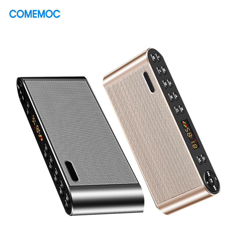 Bluetooth Speaker Portable Wireless Handsfree Pocket Audio Speaker Subwoofer HiFi Led Display With Mic TF FM Radio Music Player emie solo one wireless speaker subwoofer bluetooth 4 0 nfc 2 0 channel music player with touch surface 3 5mm audio plug