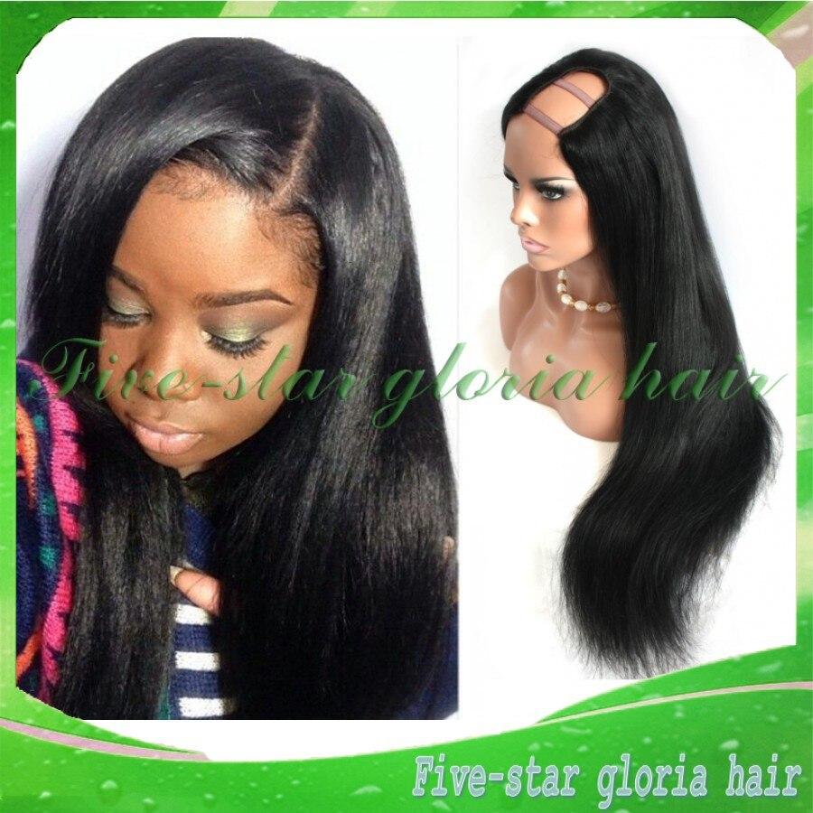 A unprocessed brazilian u part wig silky straight left