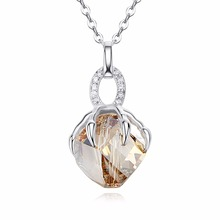 TYTW crystals from Swarovski S925 sterling silver elegant women necklace girls gift necklace claw hook Pendant Jewelry