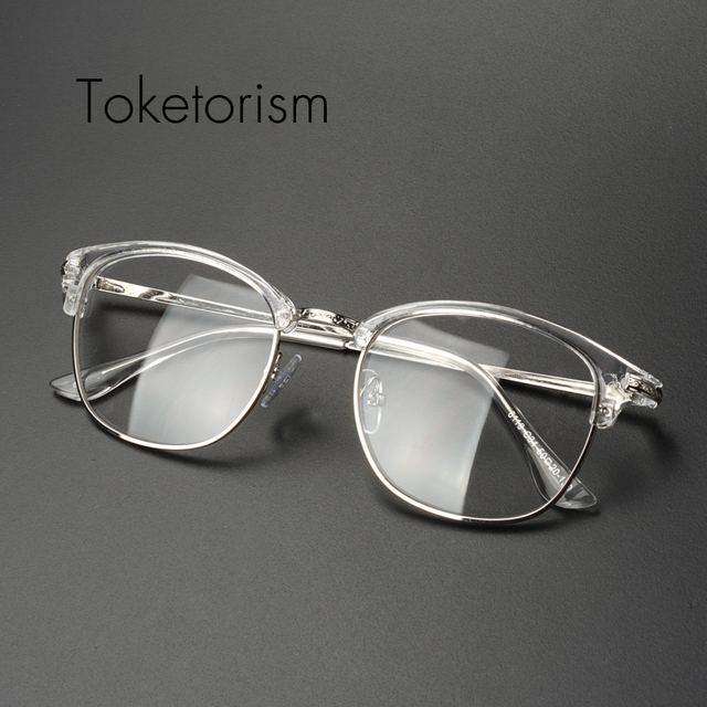 a089a2bdf4 Toketorism women men retro glasses transparent vintage optik eyeglasses  unisex spectacles frames