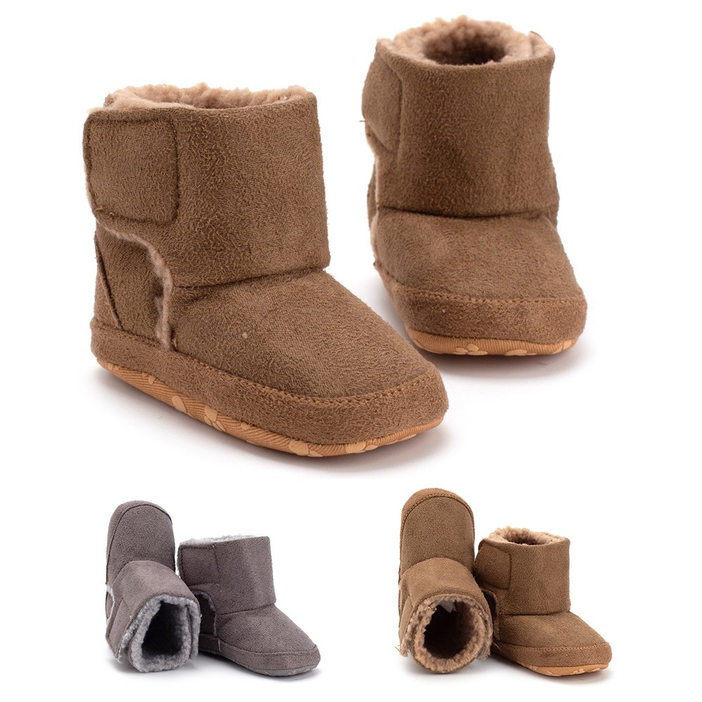 Baby Shoes Infant Soled Footwear for Newborn Winter Toddler Keep Warm Print First Walker