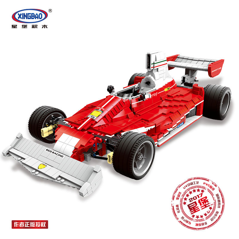 XINGBAO 03023 Genuine 2405PCS The Red Power Racing Car Set Building Blocks Bricks Educational Toys As Christmas Gifts for Kids