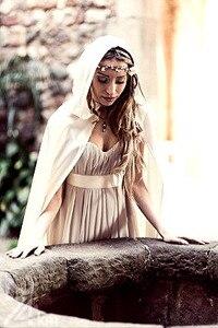 Image 3 - Свадебная накидка, свадебная накидка, искусственная кожа, с капюшоном, ручная работа