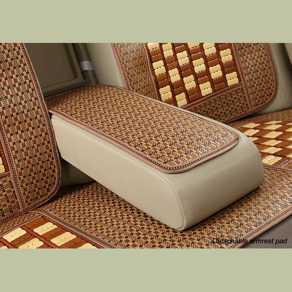 GLCC SUMMER NEW ARRIVAL Car Bamboo Seat Covers Cool&Relieve Fatigue Universal 5 Seat Auto Covers Set Car Seat Protector