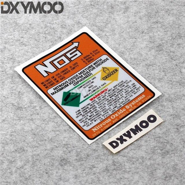 1 piezas estilo de coche etiqueta de vinilo de advertencia de óxido nitroso mezcla oxidante Systemrs las bici de la motocicleta de la etiqueta engomada