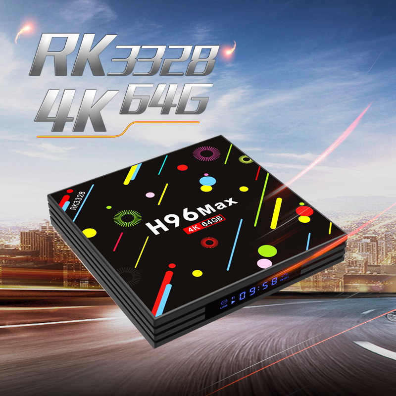 H96 MAX H2 Android 7,1 TV Box 4 GB RAM 64 GB ROM Max RK3328 2,4g 5G WiFi 4 K caja superior H.265 USB 3,0 BT 4,0 Media Player pk X92