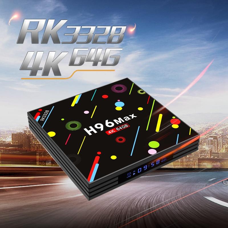 H96 MAX H2 Android 7.1 TV Box 4GB RAM 64GB Max ROM RK3328 2.4G 5G WiFi 4K Set Top Box H.265 USB 3.0 BT 4.0 Media Player pk X92